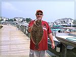 Twenty-four inch flounder caught on the caught on the BayBee in Ocean City, Maryland.