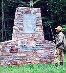 Tom Cooney at the Joe Brooks Memorial on the banks of Big Hunting Creek near Thurmont, Maryland. Brooks was a well-know outdoors writer and one of the founders of the Brotherhood of the Jungle Cock.